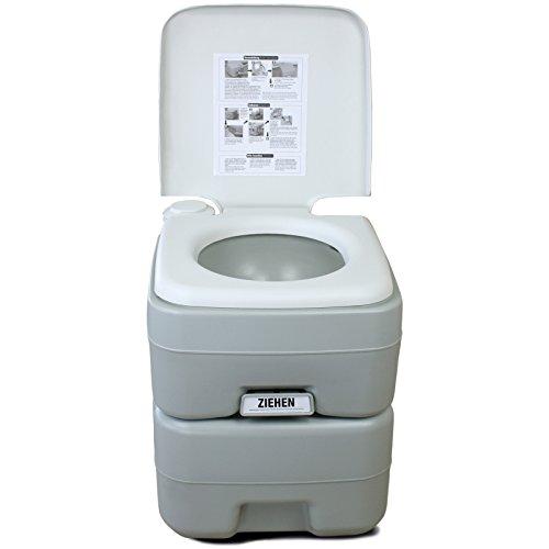 BB Sport Mobile Campingtoilette Chemietoilette Mobil WC Tragbare Toilette Reisetoilette mit Füllstandsanzeige und Entlüftungsventil