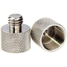 """CAMVATE 3/8""""-16 Tuerca Conversión 5/8""""-27 Tuerca Adaptador Para Micrófono Soporte (2 piezas)"""