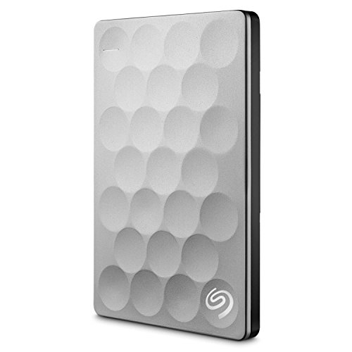 Seagate Backup Plus Ultra Slim 1TB, platin, externe tragbare Festplatte inkl. Backup-Software,  USB 3.0, PC & MAC & PS4  (STEH1000200)