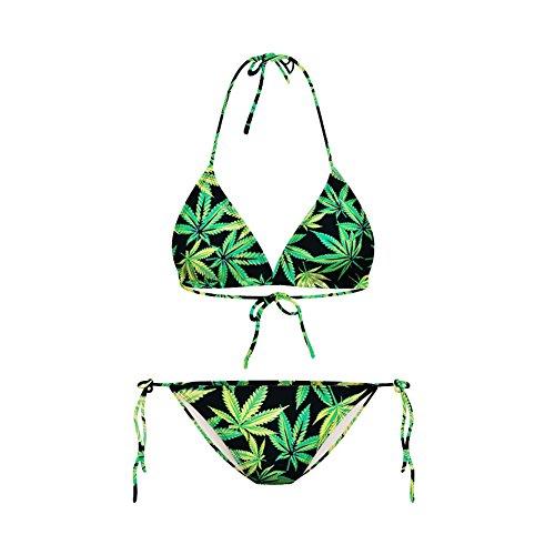 Haodasi Neue reizvolle Bikini-Badebekleidungs-Frauen-Bikini-Sätze Digital-Druck-Badeanzug (Bikini Print Tiger)