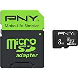PNY Carte Mémoire MicroSDHC High Performance - 8 Go Classe 10 UHS - 1 U1 50Mb/s avec Adaptateur