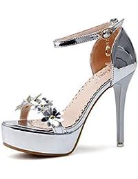 Sandalias de Tacón Alto de Mujer de Verano,Moda Zapatos Sandalias Zapatos Decollete Elegante Sexy Mujer Thong...