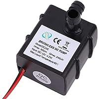 Dailyinshop Bomba de Agua eléctrica Sumergible de CC 12V 240L / H Bomba de Agua eléctrica Ultra silenciosa de Mini Black Black Acuario