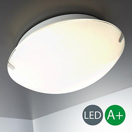 LED Deckenleuchte Inkl. LED-Modul 230V IP20 LED Küchenleuchte Esszimmerleuchte LED Wohnzimmerlampe Esszimmerleuchte LED Deckenlampe Glas LED Spots 230v Volt Metall-Glas Weiß 900 Lm 11,5 Watt 1 Flammig
