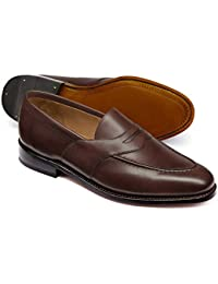 Chocolate Goodyear Welted Saddle Loafer by Charles Tyrwhitt