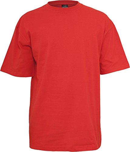 Urban Classics TB006 Tall Tee Tshirt Jersey Urban Fit Red 5XL - Tall Classic Fit Shirt