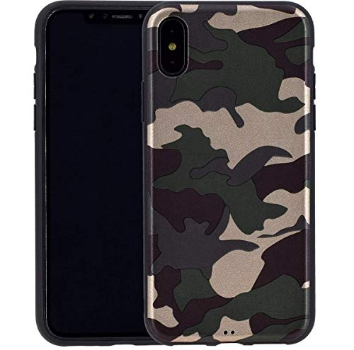Favory Camouflage Design Silikon Case Premium TPU Hülle für iPhone X | XS (5.8