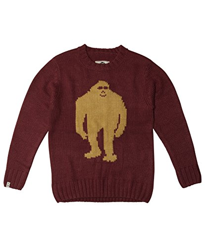 quatch Bigfoot Pullover, unisex, Oxblood (Bigfoot Kostüme)