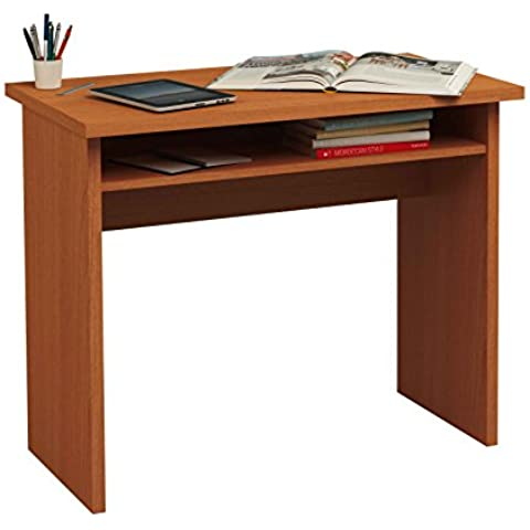 Meka-Block K-519C - Mesa de estudio, 90 cm de ancho, color cerezo