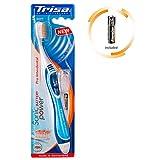 TRISA Sonicpower Pro Interdental Soft, Elektrische Handzahnbürste für die besonders effiziente Zahnpflege mit Schall, Batterie inbegriffen, blau