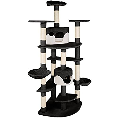 TecTake Cat Scratcher Activity Center Cat Tree Scratching Post 204cm - different colours -
