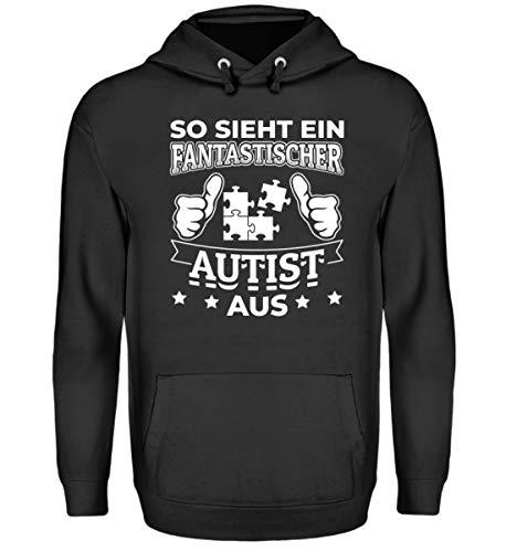 Chorchester Autismus - Fantastischer Autist - Unisex Kapuzenpullover Hoodie -L-Jet Schwarz