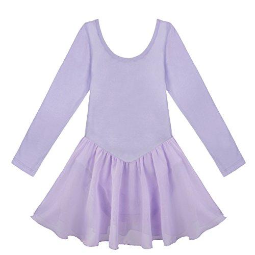 iEFiEL Kinder Mädchen Ballett Kleid Flügelärmel Kinder Ballettkleidung -