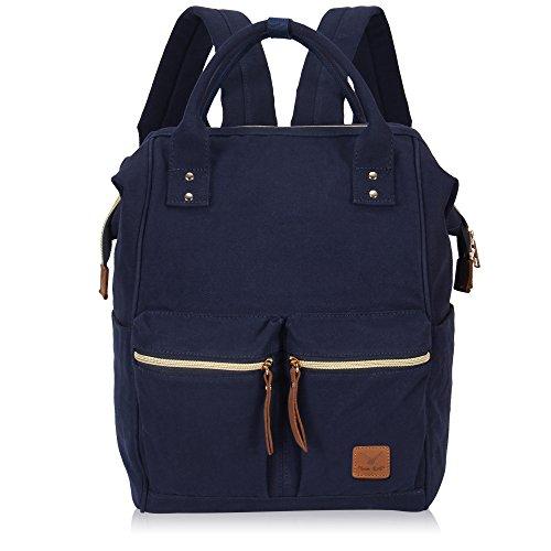 Imagen de veevan bolso  casual de lona para ordenador portátil de 15,6 pulgadas unisex azul marino 01