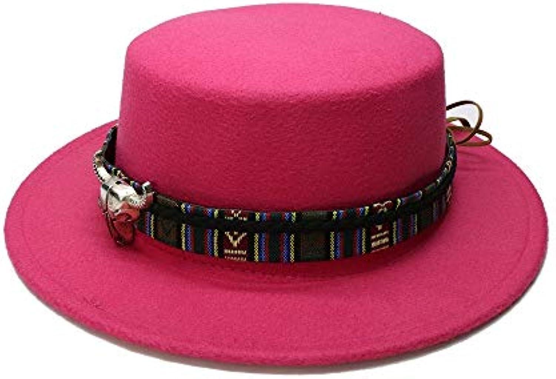 Ying xinguang Retro Donna Uomo di Vintage Lana Tesa Larga Cappello di Uomo  Maiale Porkpie Bowler Cappello Testa di Mucca... Parent 93d379 6d96fbfd1ea0