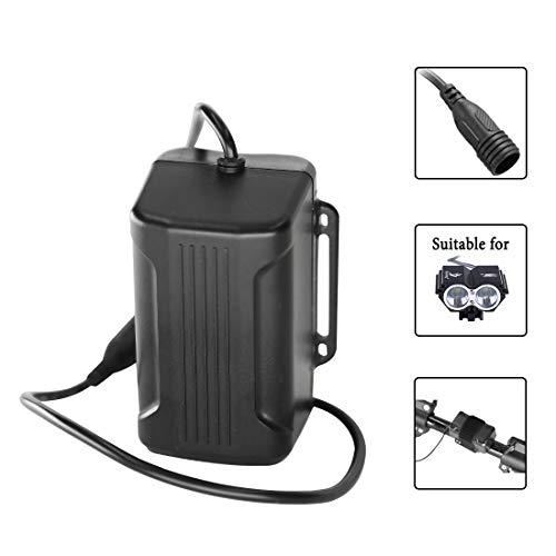 lillimasy Akkupack für Fahrrad, 8000mAh 4x18650 Waterproof Batterie Pack, Wiederaufladbarer Akku für Cree T6 U2 Licht - Schraube Anschluss