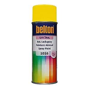 RAL 1016 JAUNE SOUFRE Mat (BELTON) (Bombe peinture 400 ml) - bombe aerosol reparation peinture carrosserie voiture teintes standrard et RAL (reference couleur constructeur 150 ou 400 ml)