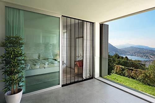 empasa Insektenschutz Lamellenvorhang Doppelschiebetür Türvorhang Polyester 200 x 220 cm