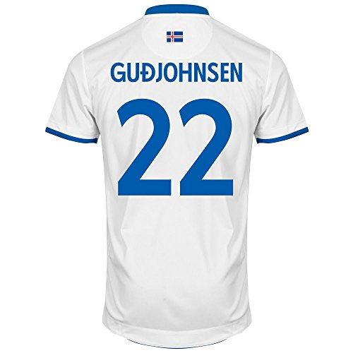 Errea Iceland Away Gudjohnsen No.22 Shirt 2016 2017