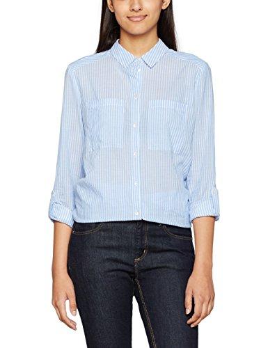 ESPRIT Damen Regular Fit Bluse 997EE1F801, , , , , Gr. 44, Mehrfarbig (Light Blue 440)