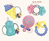 #7: Baybee HappyvRattle Teether Set Baby Toys 5 pcs Shake GRAP Baby Hand Development Rattle Toys for Newborn Baby