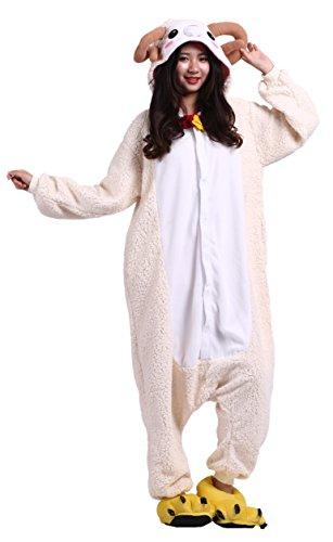Imagen de cuteon unisexo adulto dibujos animados animal kigurumi pijama ropa de dormir encapuchado cosplay disfraz nuevo cabra s for altura 140 155cm