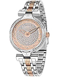 JUST CAVALLI Damen - Armbanduhr LADY J Analog Quarz Edelstahl R7253579502