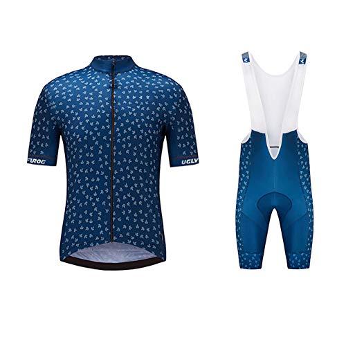 Uglyfrog Neue Radsport Anzüge Herren Kurzarm Trikots+Bib Kurze Hosen Gel Pad Summer Cycling Kit Triathlon Clothes für Radsport Rennrad Einzigartig Designs -
