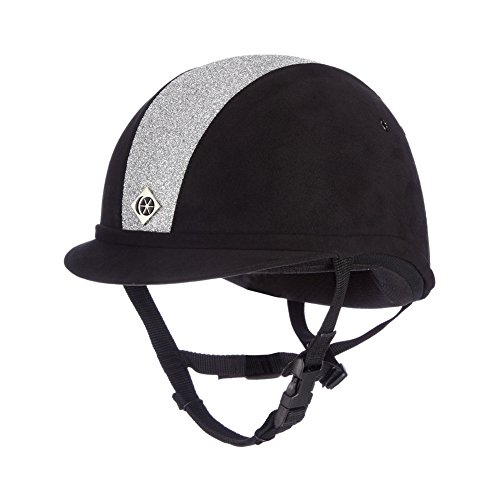 Charles Owen Sparkly YR8 Riding Hat 52cm Black and Silver