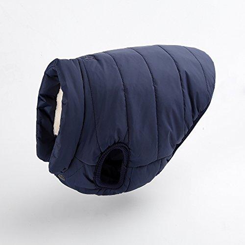 Sneff Trade Warm gefüttert Hundemantel Hundejacke Winter Hundeweste Hundebekleidung Pet Dog Coats Jackets Rot Blau Braun für kleine und mittlere Hunde M Brust 48cm/ Hals 36cm/ Ruecklaenge 35cm