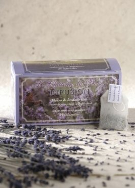Le Chateau du Bois: 2 Schachteln beruhigender und verdauungsfördernder Lavendeltee aus echtem Lavendel AOC der Haute Provence