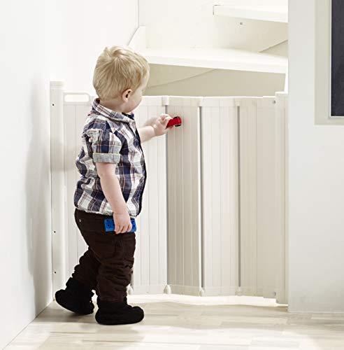 Guard Me by Baby Dan - das Gitter das automatisch faltet - hergestellt in Dänemark und vom TÜV GS geprüft