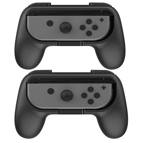 Boladge 2 x Game Controller Grip Switch Izquierda Gamepad Grip Derecho Gaming Controller Grip Para Nintendo Switch Joy-Con (Negro + negro)