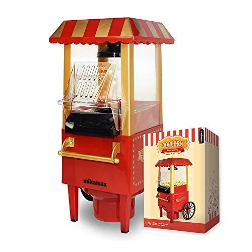 MikaMax - Popcornmaschine - Popcorn Maker -- Rot - Maße Verpackung: 40 X 20 X 15 Cm - Gewicht 1,9 Kg - - Kein Öl Oder Butter Benötigt - Popcorn Selber Machen