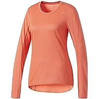 Adidas SN LS tee W Camiseta, Mujer, Naranja (corsen), S