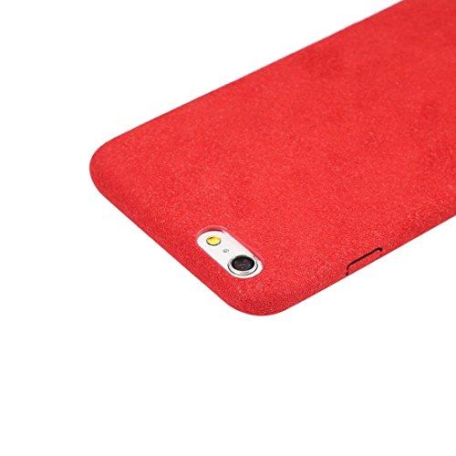 JING Pour iPhone 6 Plus / 6s Plus, Ultra Fiber + Housse de protection pour ordinateur ( Color : Pink ) Red