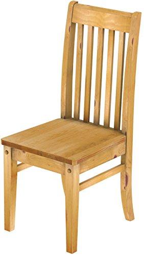 Brasilmöbel 2 x Stuhl \'Klassik\', 45 cm Sitzhöhe, Pinie Massivholz, Farbton Honig