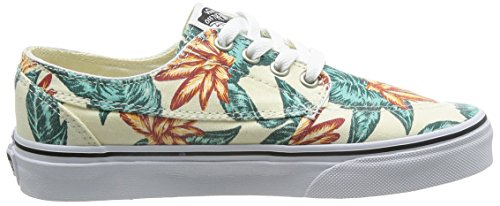 Vans Brigata, Baskets basses mixte adulte Blanc - White (Vintage Aloha - Classic White/True White)