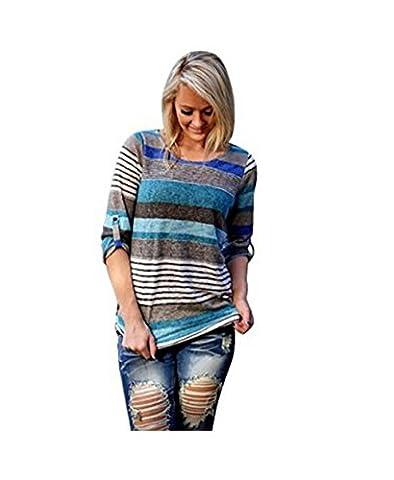 Women's V-neck Casual Short Sleeve T-shirt Blouse Tees