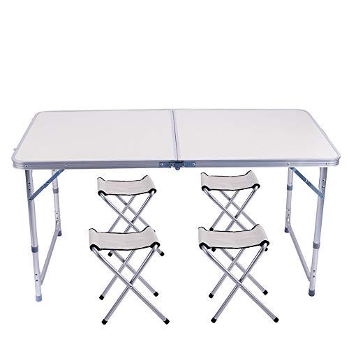 Tavolo Arrotolabile Campeggio E Outdoor.Sunflo Tavolo Pieghevole 1 2 M Portatile In Lega Di Alluminio