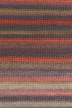 LANG YARNS Viva - Farbe: Braunorange/Violett (0075) - 50 g / ca. 110 m Wolle (Garn 110 Hof)
