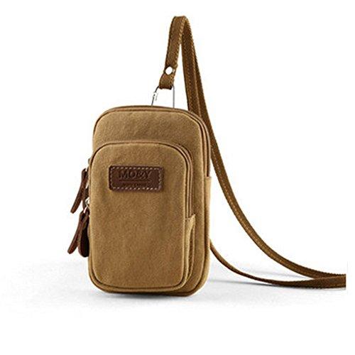 Laat sacchetto di viaggio sacchetto di bagaglio borsa a mano alla moda Tempo libero Borsa a spalla per uomini, nero Kaki