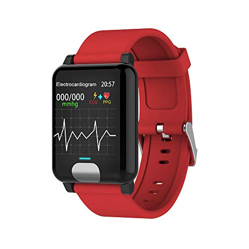 Fulltime E-Gadget Multifunktionales intelligentes Armband, Android 4.4 Smart Watch Armband Band Armband Pulsmesser Fitness Tracker (Rot)