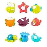 9-Pack Océano Squirting juguete del baño del Organizador para niños, bañera de bebé bolsa de juguete