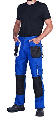Herren Arbeitshose mit Kniepolstertaschen, Bundhose blau,Qualität (Tripple extra large - 64)
