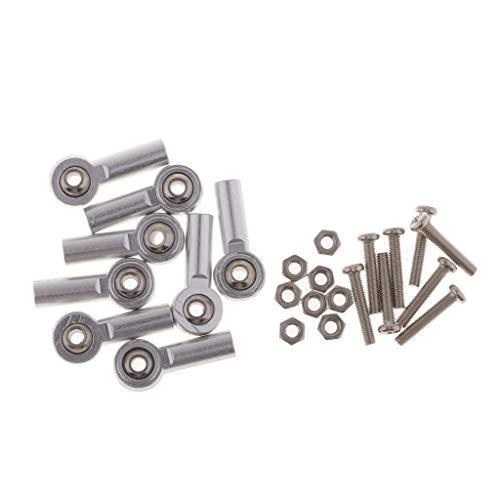 all Kugelkopf Kugelgelenk Kugelköpfe M3 mit Schrauben für RC Auto - 4mm Silber ()