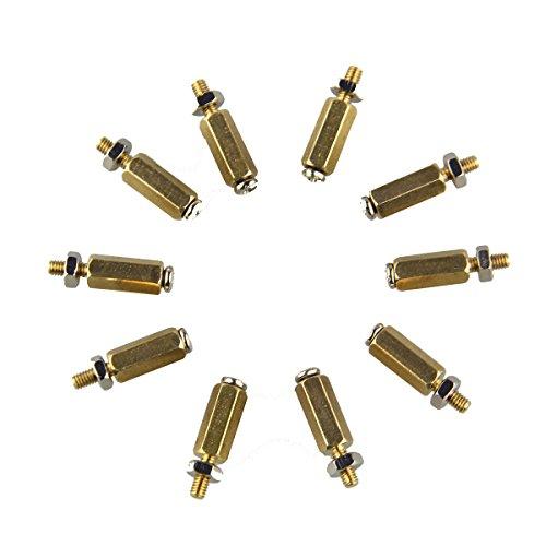 LaDicha 3Sets DIY 11Mm Hex Laiton Cylindre + Vis + Écrou Kits pour Framboise Pi