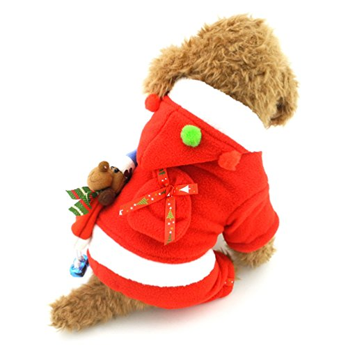 Outfit Claus Frau (smalllee Lucky Store Frau Claus Kleine Hunde Outfit Weihnachten Pet, Chihuahua, Mädchen,)