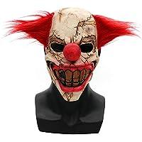 Zhuhaimei,Scary Halloween Mask Latex Payaso Cara(Color:Multi-A)