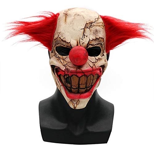 Fjiujin,Scary Halloween Maske Latex Clown Gesicht(Color:Multi-A) (Halloween Fang Maske)